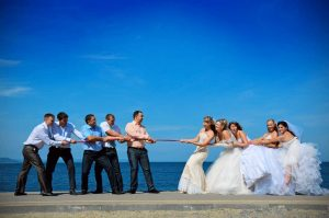 East Kent Wedding Video tug of war